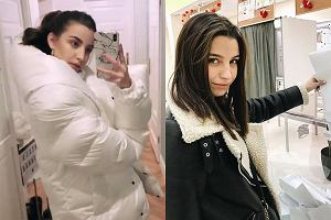 biała kurtka i kożuszek w stylu Julii Wieniawy