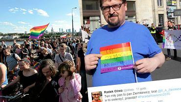Brat Rafała Ziemkiewicza na Paradzie Równości