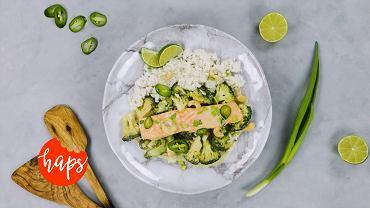 Zielone curry z łososiem