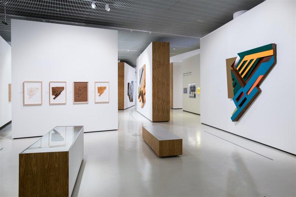 Wystawa 'Frank Stella i synagogi dawnej Polski' / Fot. M. Starowieyska / Muzeum POLIN