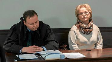 Grażyna Juszczyk podczas rozprawy. Wrocław, 31 stycznia