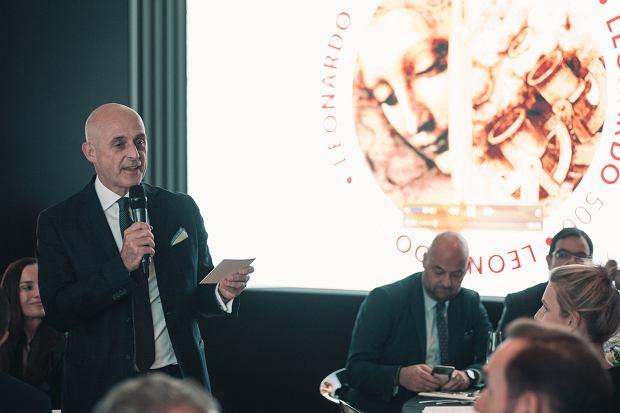 Spotkanie otworzył Aldo Amati, ambasador Włoch w Warszawie