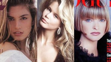 Cindy Crawford, Claudia Schiffer, Linda Evangelista.