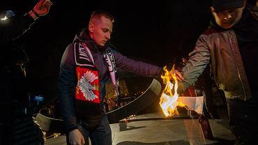 Wrocław. Zgromadzenie nacjonalistów z okazji Narodowego Dnia Pamięci Żołnierzy Wyklętych