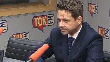 Rafał Trzaskowski w studiu Radia TOK FM.