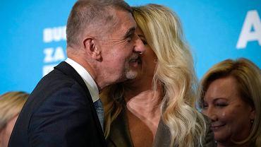 Andrej Babis na wieczorze wyborczym