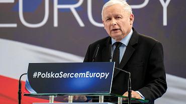 Jaroslaw Kaczyński w G2A Arena pod Rzeszowem