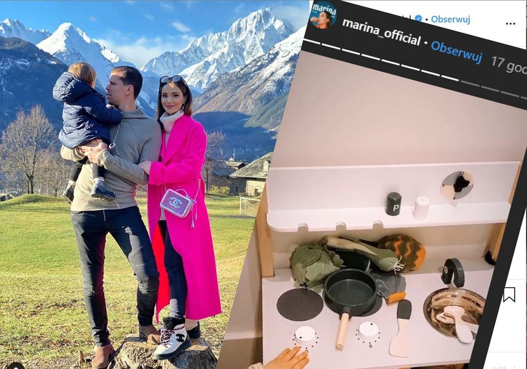 Marina złożyła kuchnię synkowi