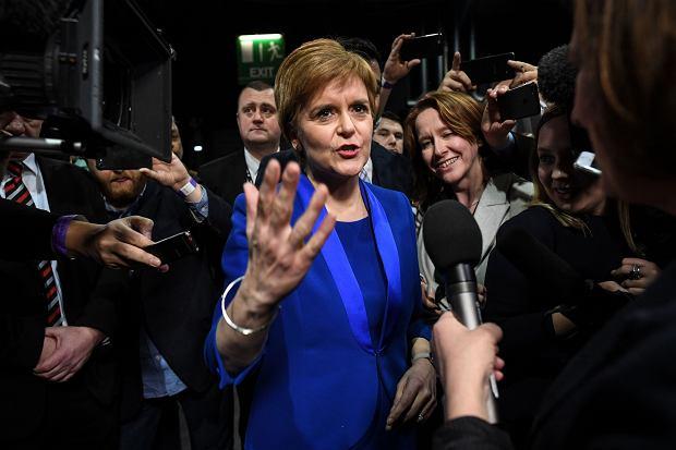 Nicola Sturgeon, szefowa szkockiej partii narodowej.