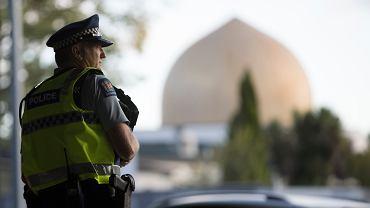 Okolice meczetu Al Noor w Christchurch, 19.03.2019.