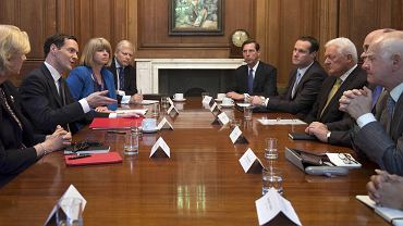 gBank heads meet with Britains Chancellor of the Exchequer, George Osborne, at Downing Street in London