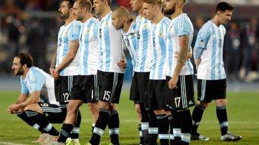 Argentyna podczas rzutów karnych w finale Copa America