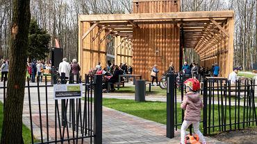 Tężnia solankowa w Parku Zadole w Katowicach powstała dzięki inicjatywie w ramach Budżetu Obywatelskiego