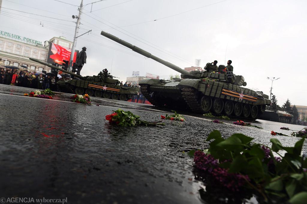 Wielka parada w 70. rocznicę zwycięstwa Wielkiej Wojny Ojczyźnianej w Doniecku(zdjęcie ilustracyjne)