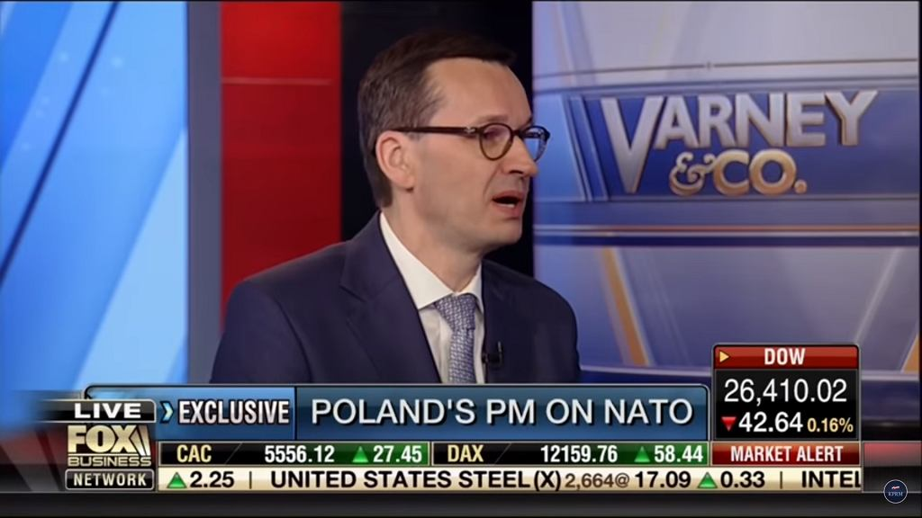 Mateusz Morawiecki during the interview for Fox Business