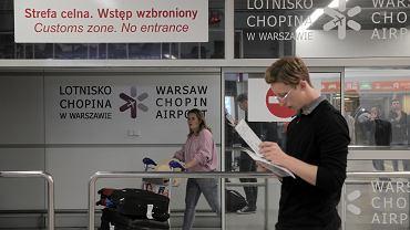 Hala przylotow lotniska Chopina