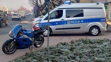 Motocykl zatrzymanego pirata drogowego w Lesznie