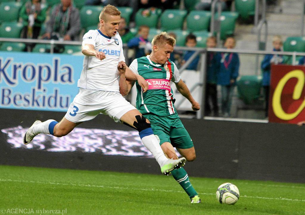 Igor Lewczuk w meczu ze Śląskiem