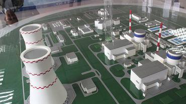 Model pierwszej białoruskiej elektrowni atomowej w Ostrowcu, która ma zostać otwarta jesienią 2020 roku.