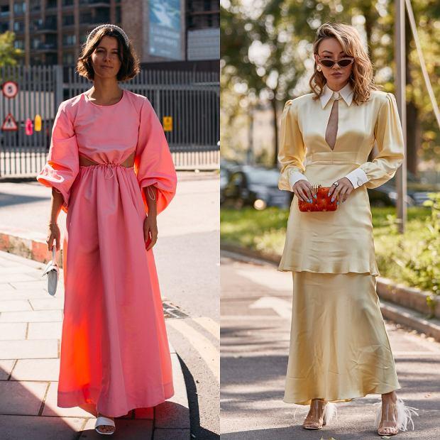 Sukienki jedwabne z bufiastymi rękawami