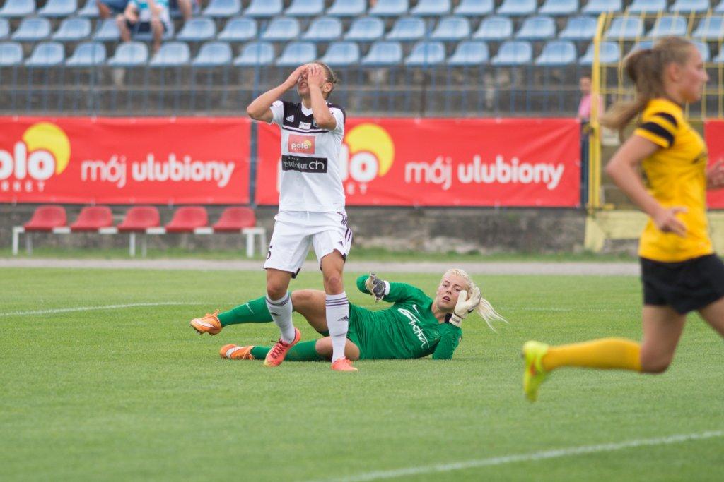 Mecz turnieju eliminacyjnego Ligi Mistrzyń Medyk Konin - Gintra Universitates Szawle 4:0. Aleksandra Sikora
