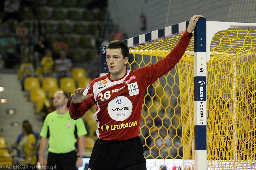 Filip Ivić podczas meczu Vive Tauron Kielce - Piotrkowianin