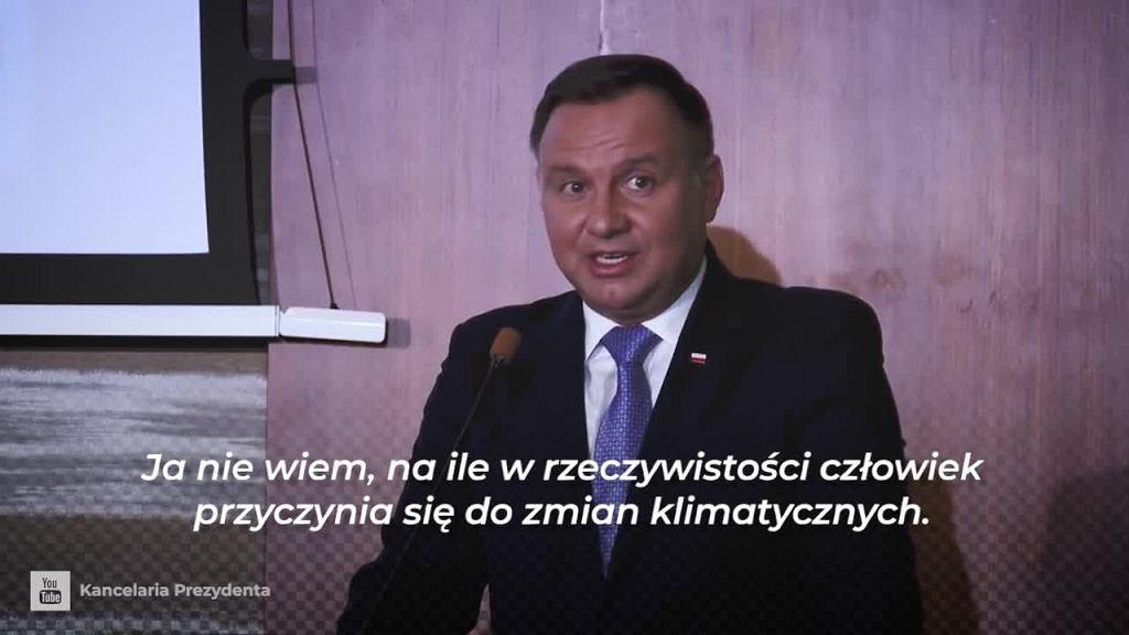 Andrzej Duda o kryzysie klimatycznym