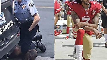Duszony George Floyd i protestujący Colin Kaepernick