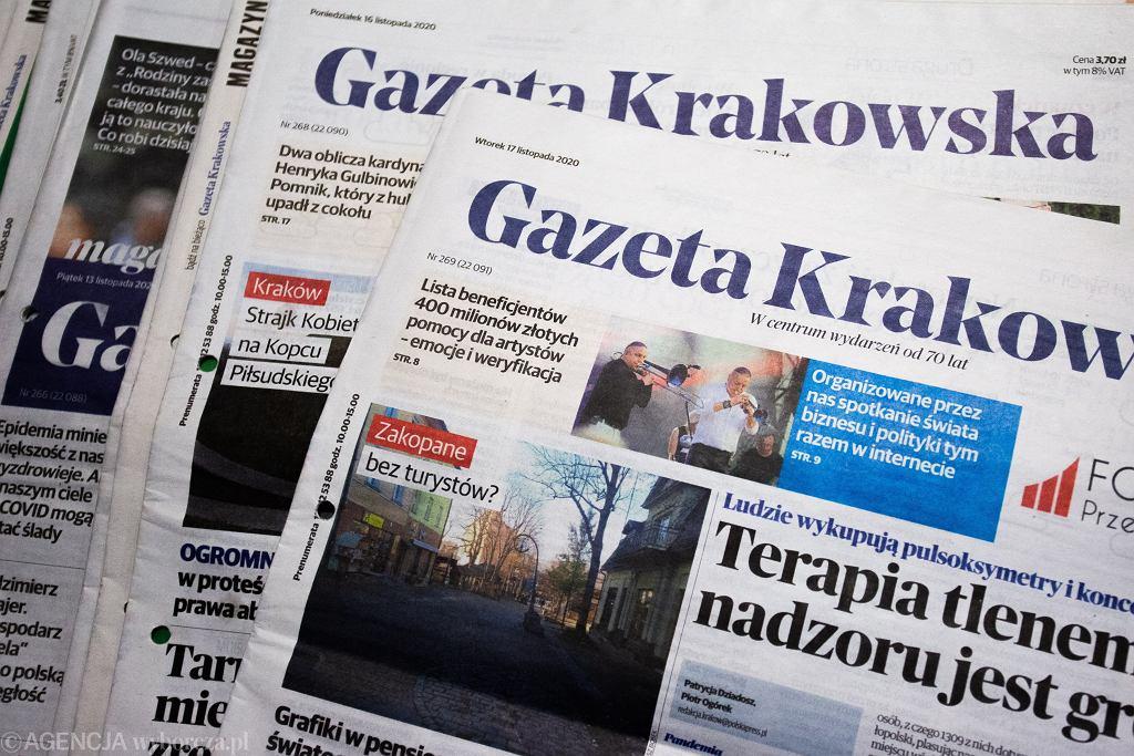 Gazeta Krakowska, dziennik lokalny wydawany przez Polska Press