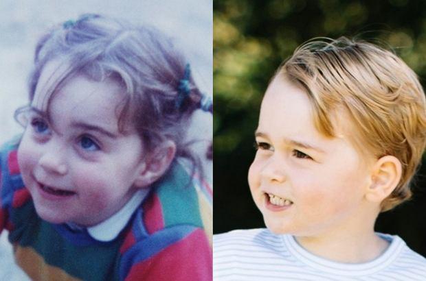 Księżna Kate i książę George w wieku 3 lat