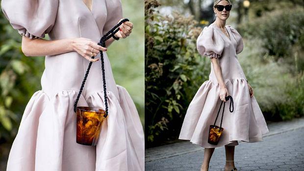Sukienki z bufiastymi rękawami, moda 2020