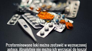 Przeterminowane leki zawierają szkodliwe substancje, dlatego można je zostawić jedynie w wyznaczonych do tego puntkach