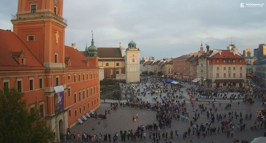 Widok na Plac Zamkowy w Warszawie