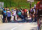 Tour de France. Groźny incydent z udziałem kolarza polskiej grupy [WIDEO]