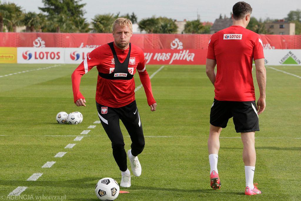 Kamil Glik podczas treningu reprezentacji Polski w Opalenicy