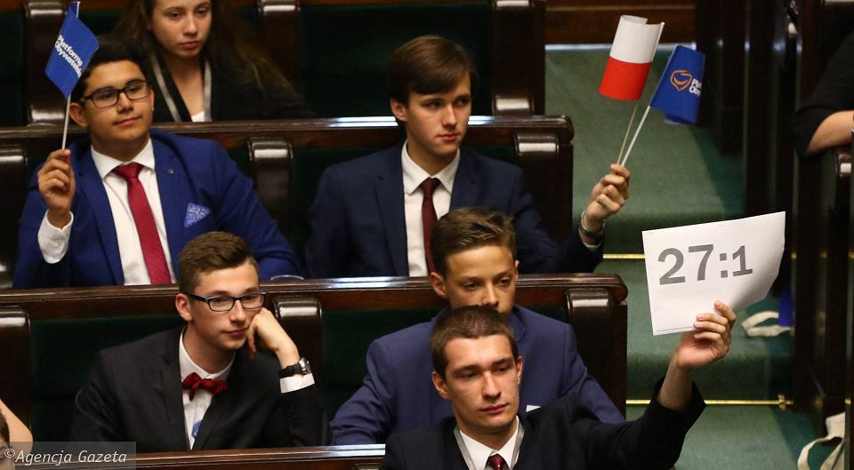 XXIII Sesja Sejmu Dzieci i Młodzieży. Dzień Dziecka w Parlamencie, Warszawa 1 czerwca 2017