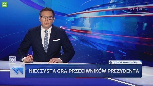 """""""Wiadomości"""" TVP 1. Prezydent Duda zwalcza niepatriotyczne ośmiorniczki"""