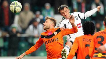Legia pokonała Zagłębie Lubin 2:0. Pierwszą bramkę dla legionistów zdobył Miroslav Radović