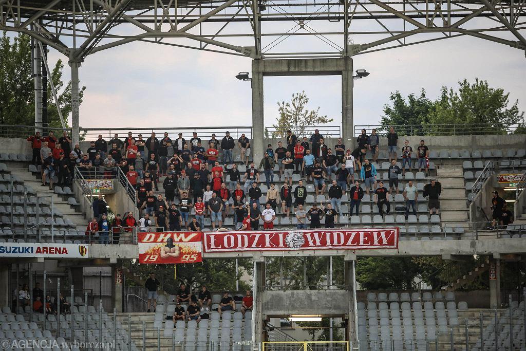 Kielce 4.06.2021, mecz Fortuna 1. Ligi Korona - Widzew Łódź