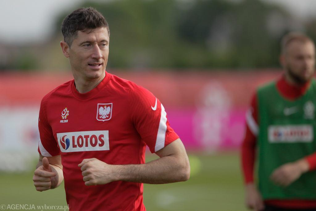 Trening piłkarzy reprezentacji Polski
