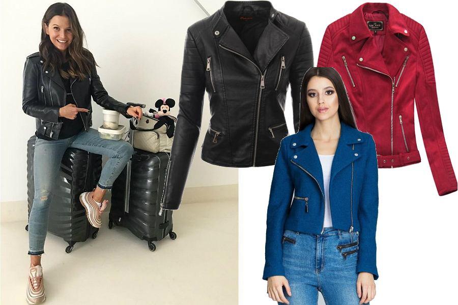 Skórzane kurtki w stylu Anny Lewandowskiej