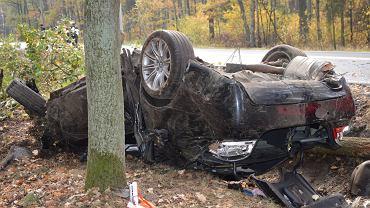 Wypadek na drodze krajowej nr 45