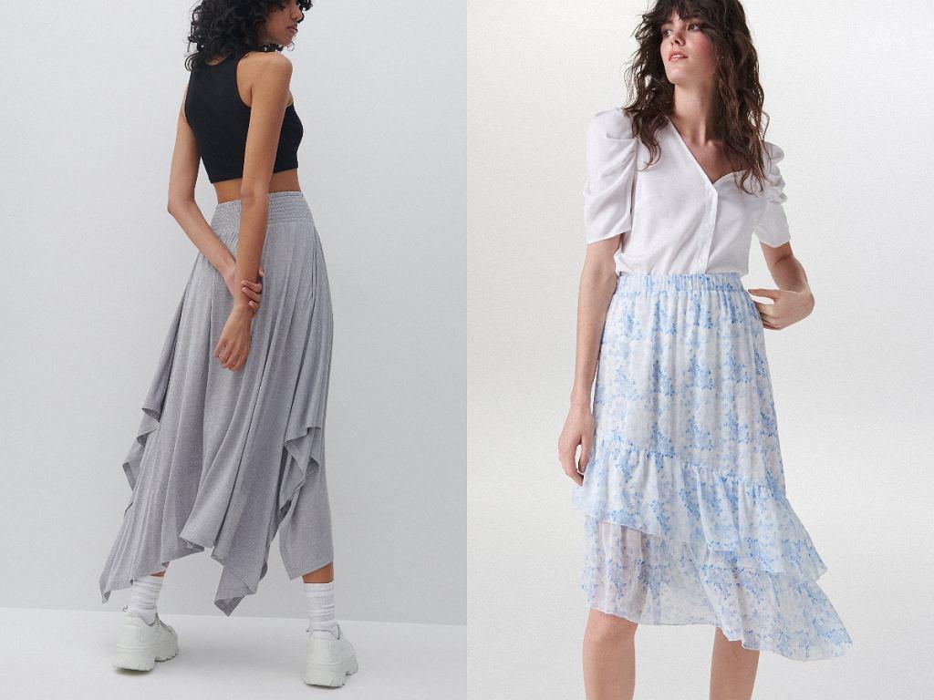 asymetryczne spódnice