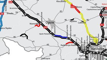 Remont na autostradzie A4 Krapkowice - K.Koźle