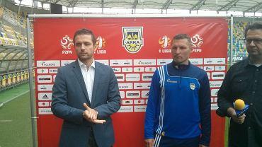 Wojciech Pertkiewicz (na zdjęciu z lewej) i trener Grzegorz Niciński