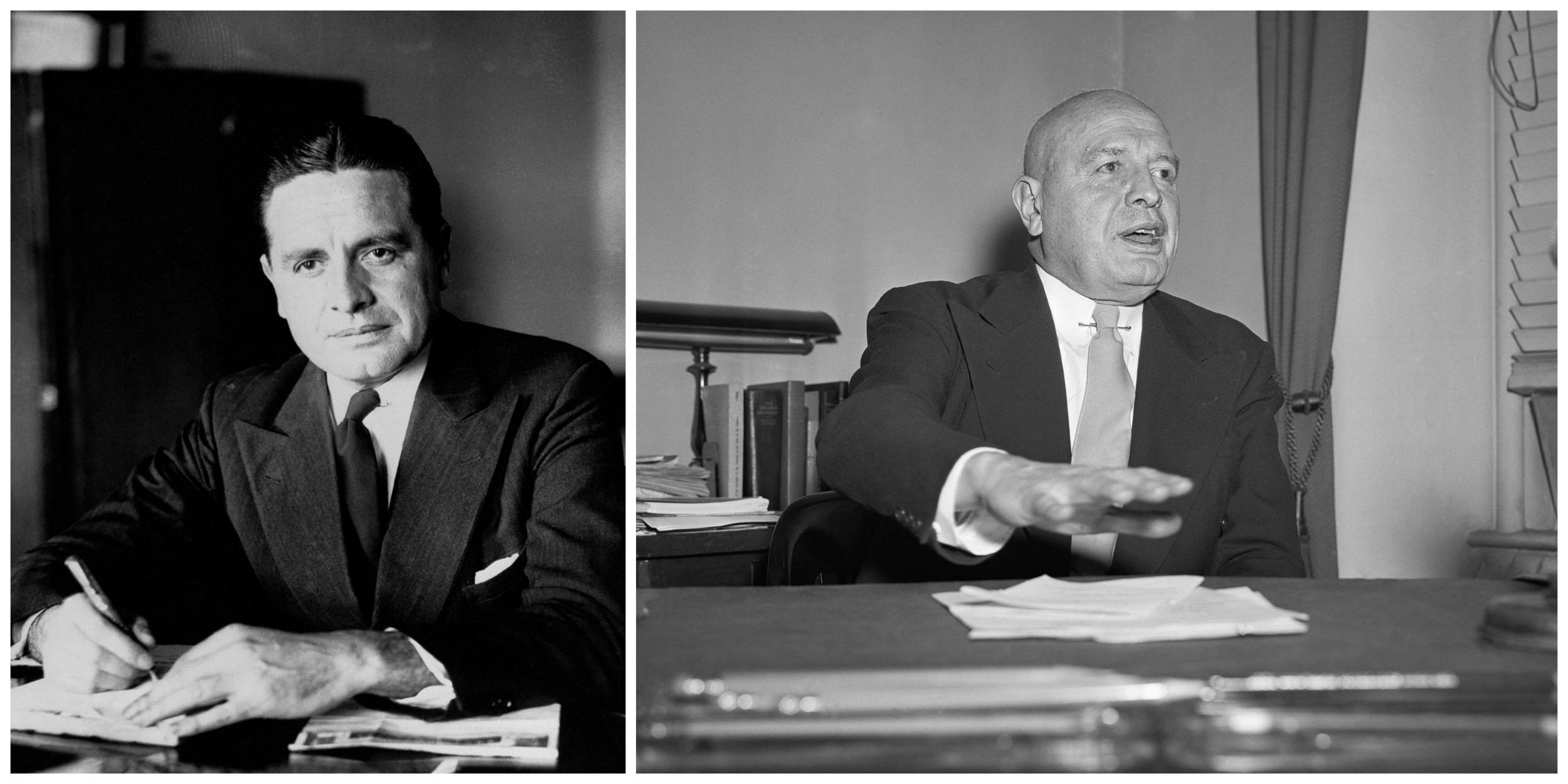 Harry Anslinger urząd szefa amerykańskiego Federalnego Biura ds. Narkotyków sprawował przez 32 lata. Na zdjęciach, od lewej, w 1930 i w 1958 r. (fot. Eastnews)