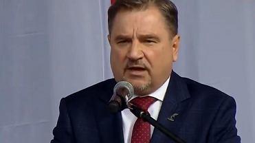 Piotr Duda podczas obchodów 40. rocznicy 'Solidarności'