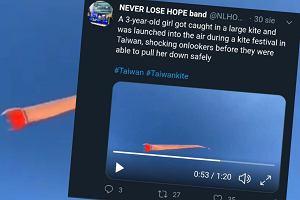 Latawiec na Tajwanie porwał dziecko. Trzylatka wzniosła się kilkanaście metrów nad ziemią
