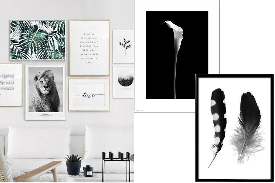 plakaty czarno-białe