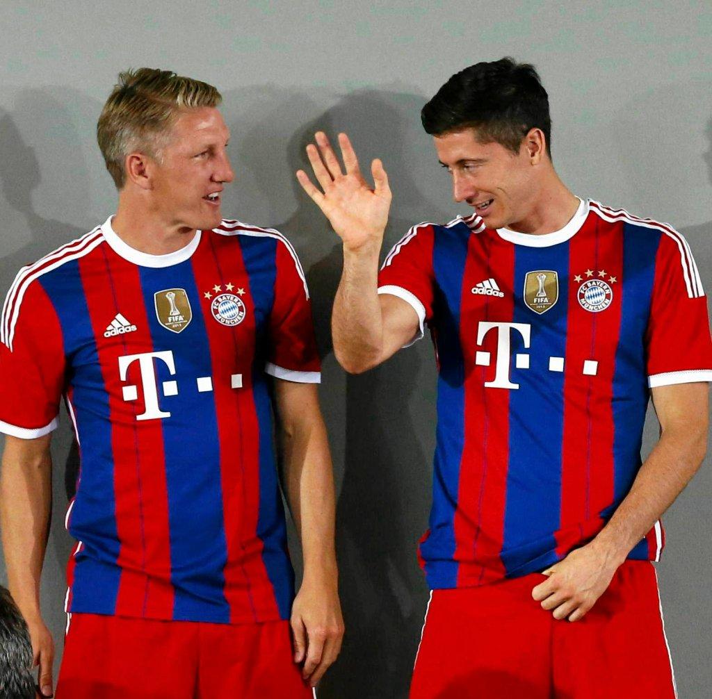 Bastian Schweinsteiger i Robert Lewandowski